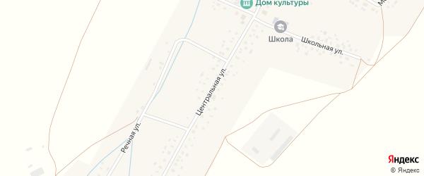 Центральная улица на карте села Тукаево с номерами домов