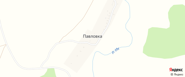 Подлесная улица на карте деревни Павловки с номерами домов