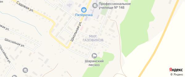 Улица Газовиков на карте села Шарана с номерами домов