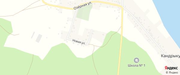 Новая улица на карте села Кандрыкуля с номерами домов