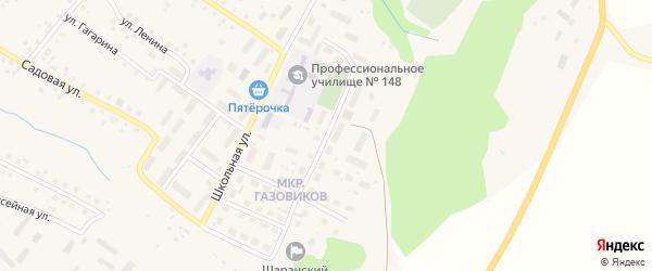Лесопарковая улица на карте села Шарана с номерами домов