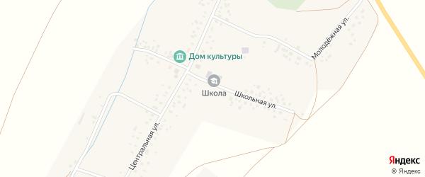 Школьная улица на карте села Тукаево с номерами домов