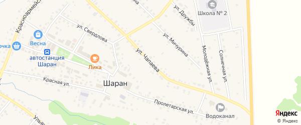 Улица Чапаева на карте села Шарана с номерами домов