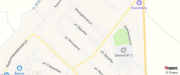 Улица Дружбы на карте села Шарана с номерами домов