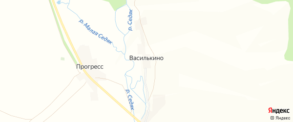 Карта деревни Василькино в Башкортостане с улицами и номерами домов