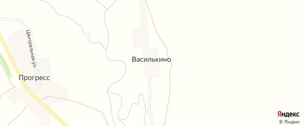 Центральная улица на карте деревни Василькино с номерами домов