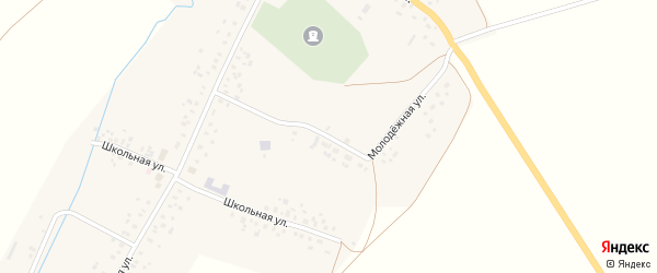 Молодежная улица на карте села Тукаево с номерами домов
