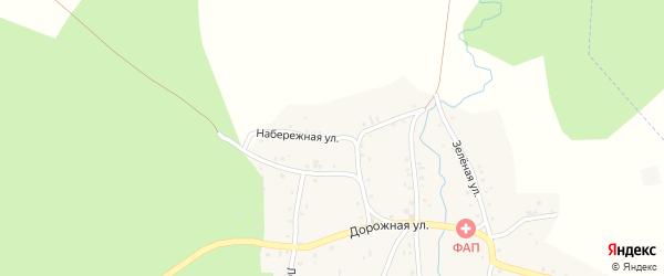 Набережная улица на карте села Саклово с номерами домов