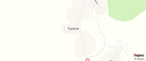 Улица Авеште на карте деревни Турачи с номерами домов