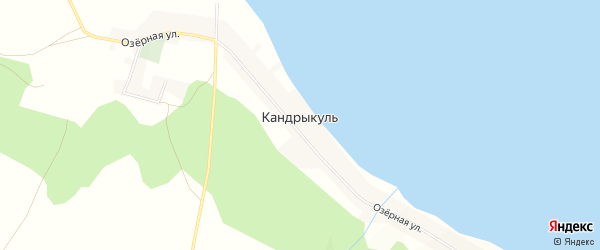 Карта села Кандрыкуля в Башкортостане с улицами и номерами домов