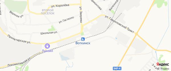 Карта территории ГК 8 города Воткинска в Удмуртии с улицами и номерами домов