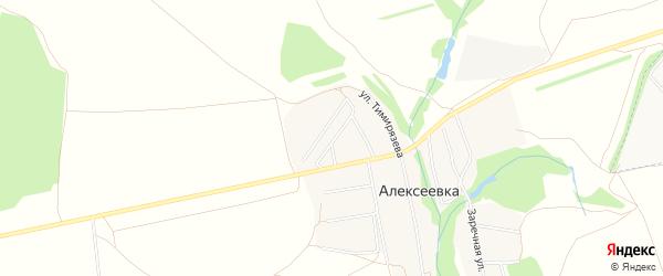 Карта деревни Алексеевки в Башкортостане с улицами и номерами домов