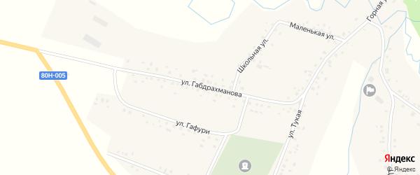 Улица К.Габдрахманова на карте села Кадырово с номерами домов