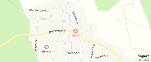 Дорожная улица на карте села Саклово с номерами домов