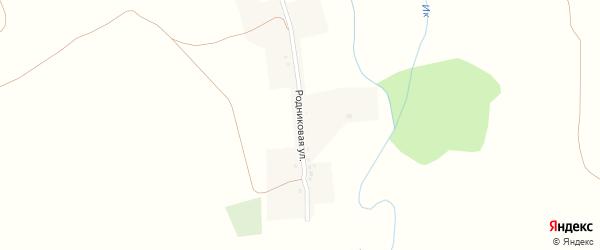 Родниковая улица на карте села Кожай-Максимово с номерами домов