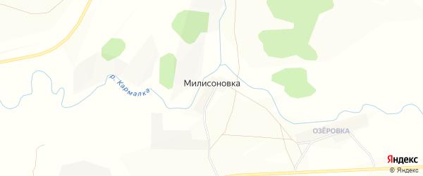 Карта деревни Милисоновки в Башкортостане с улицами и номерами домов