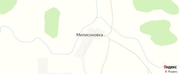 Пролетарская улица на карте деревни Милисоновки с номерами домов