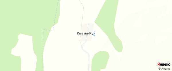 Карта деревни Кызыла-Куч в Башкортостане с улицами и номерами домов