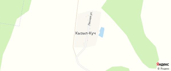 Лесная улица на карте деревни Кызыла-Куч с номерами домов