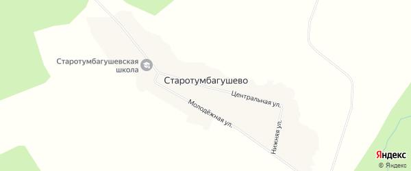 Карта деревни Старотумбагушево в Башкортостане с улицами и номерами домов
