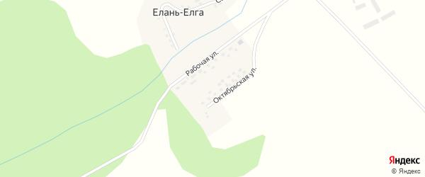 Садовая улица на карте деревни Елани-Елги с номерами домов
