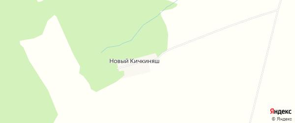 Карта деревни Нового Кичкиняша в Башкортостане с улицами и номерами домов