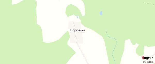 Карта деревни Ворсинки в Башкортостане с улицами и номерами домов