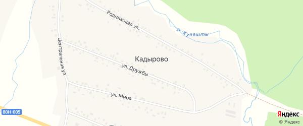 Родниковая улица на карте села Кадырово с номерами домов
