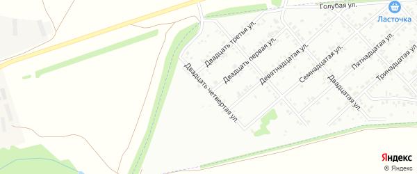 Двадцать четвертая улица на карте района Ласточки с номерами домов