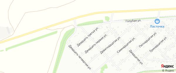 Двадцать третья улица на карте района Чайковки микрорайона с номерами домов