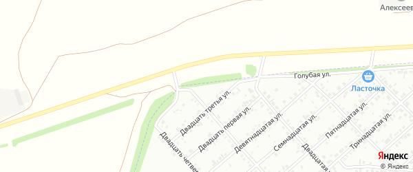 Двадцать пятая улица на карте района Ласточки с номерами домов