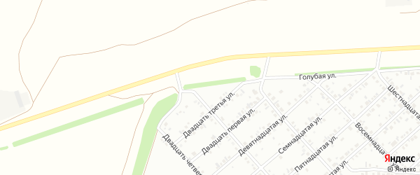 Пятая улица на карте района Ласточки с номерами домов