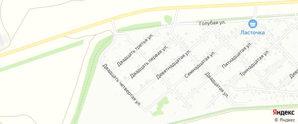 Двадцать первая улица на карте района Ласточки с номерами домов