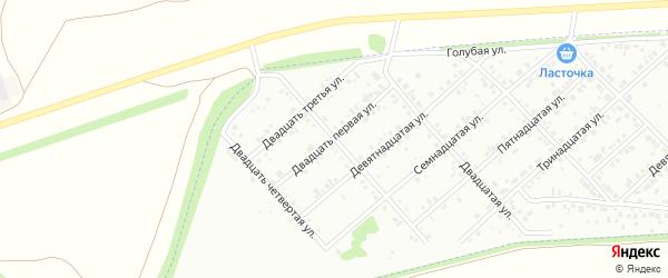 Двадцать первая улица на карте района Чайковки микрорайона с номерами домов