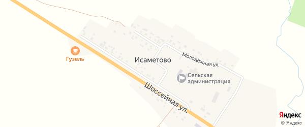 Советский переулок на карте села Исаметово с номерами домов