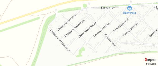 Двадцать вторая улица на карте района Чайковки микрорайона с номерами домов