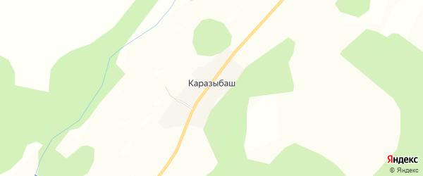 Карта деревни Каразыбаша в Башкортостане с улицами и номерами домов