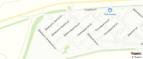 Девятнадцатая улица на карте района Ласточки с номерами домов