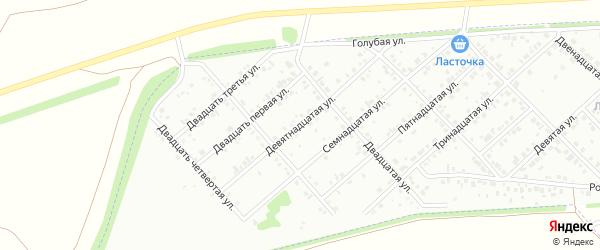 Девятнадцатая улица на карте района Чайковки микрорайона с номерами домов
