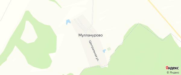 Карта деревни Мулланурово в Башкортостане с улицами и номерами домов