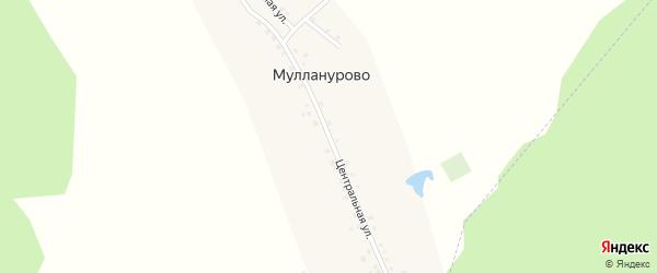 Центральная улица на карте деревни Мулланурово с номерами домов