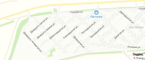 Семнадцатая улица на карте Микрорайона Надежды с номерами домов