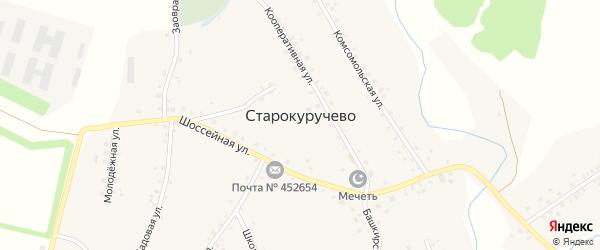 Нагорная улица на карте села Старокуручево с номерами домов