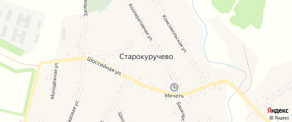 Улица Камаева на карте села Старокуручево с номерами домов