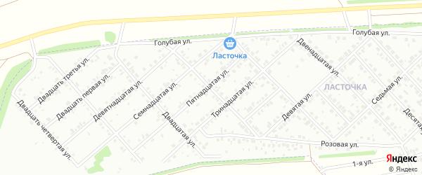 Восемнадцатая улица на карте района Чайковки микрорайона с номерами домов