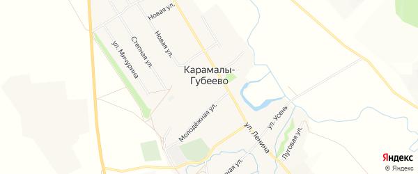 Карта села Карамалы-Губеево в Башкортостане с улицами и номерами домов