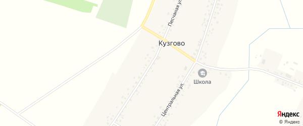 Песчаная улица на карте деревни Кузгово с номерами домов