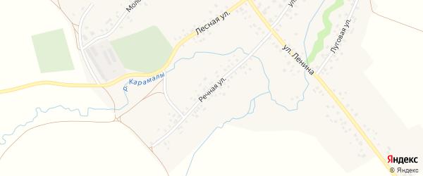 Речная улица на карте села Карамалы-Губеево с номерами домов