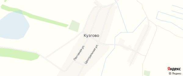 Карта деревни Кузгово в Башкортостане с улицами и номерами домов