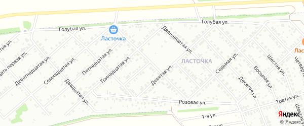 Шестнадцатая улица на карте района Ласточки с номерами домов
